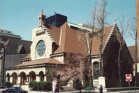 ... Interior, Original Color Scheme,. First Unitarian Church Of  Philadelphia: First Unitarian Church, Exterior, Designed By Frank Furness