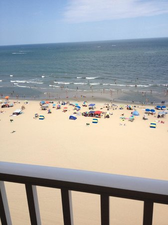 Dolphin Run Condominium: View of the beach from Unit 1106