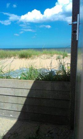 Eastern Beach Caravan Park: view from our caravan