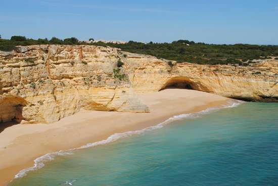 Along the coastline at Praia da Marinha