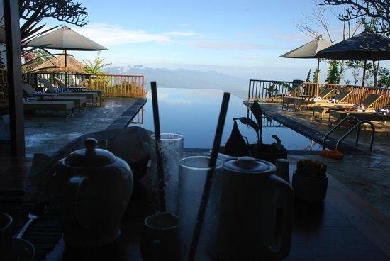 Munduk Moding Plantation: Pool at breakfast