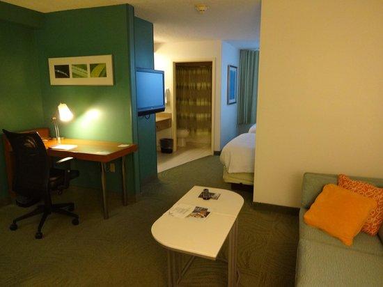 SpringHill Suites Miami Airport South: La salon-bureau-kitchenette à l'entrée