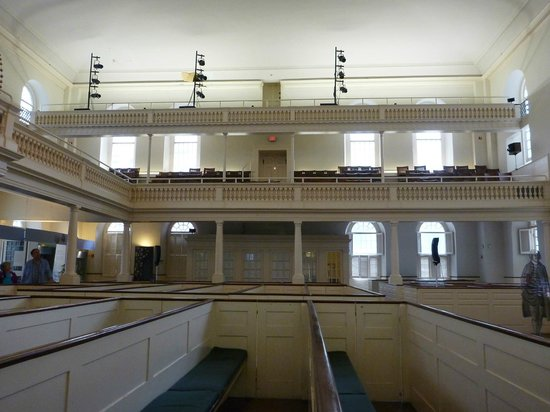 Old South Meeting House: that's where i would sit