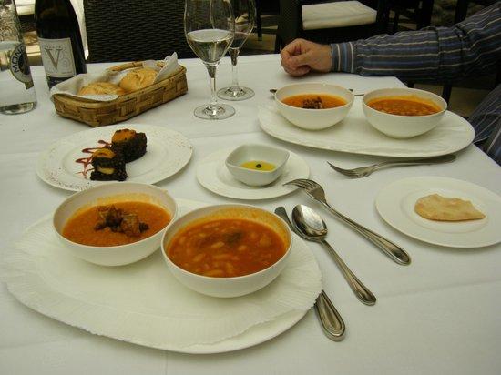 Palacio de los Velada: primer plato, degustacion
