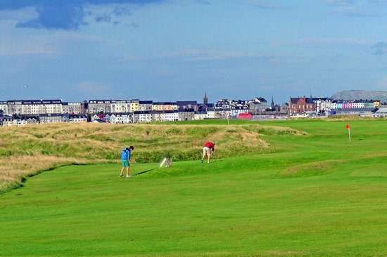 Inn on the Coast : Golf and Putting opposite the hotel