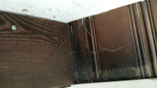 Auberge du Sanetsch: Spinnweben im Bad