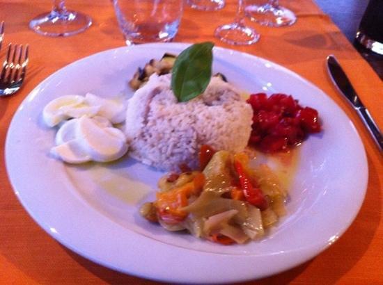 Le Terre di Bac: fantasie di riso basmati in insalata. piatto ottimo!
