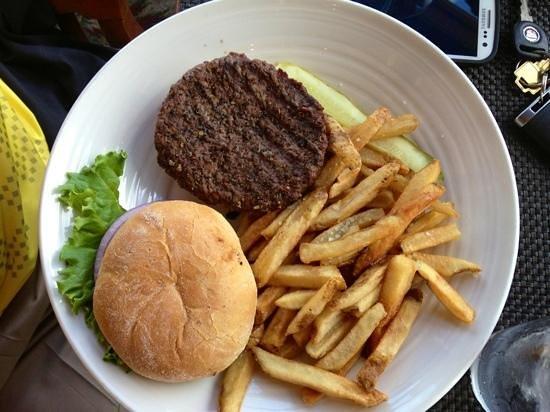 Goldmoor Dining: Hamburger and fry