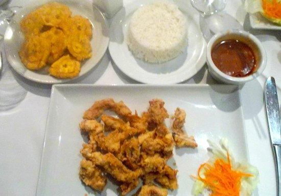 Meson de Bari : No chicharron de pollo, but this will do...
