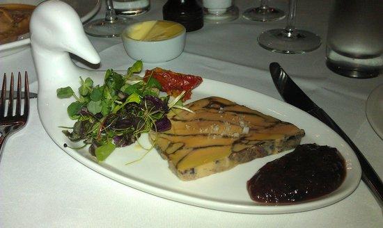 Whits: Pressed, marinated Foie Gras Terrine, Toasted Fruit Brioche, Fig Chutney
