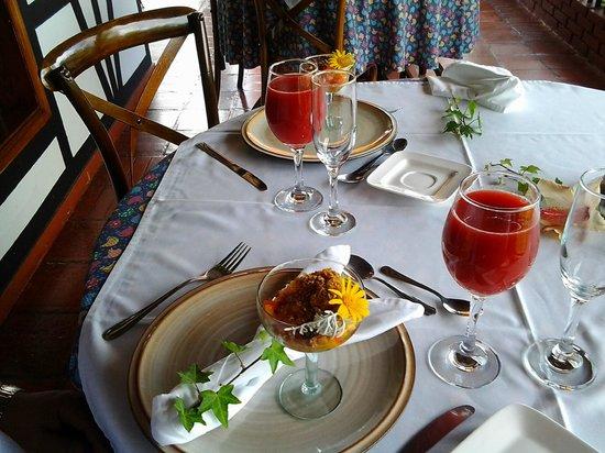Posada Don Elicio : Desayuno muy sano con muchos Detalles