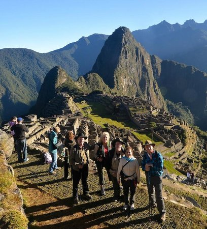 Adventures to Peru Day Tours: Our group at Machu Picchu