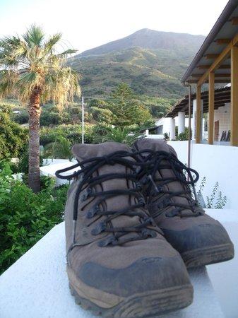 Hotel Villa Petrusa: Vue sur le Stromboli