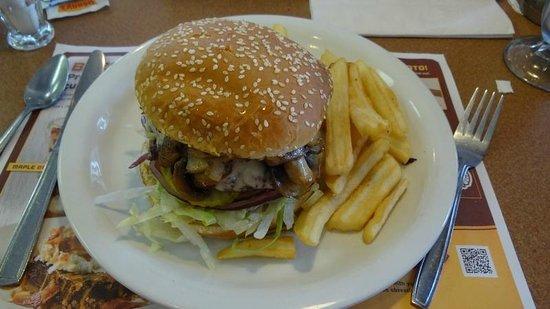 Denny's: Mushroom Swiss Burger