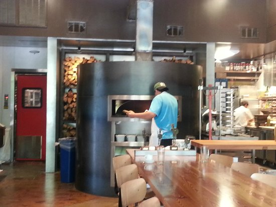 Pizzeria Toro : Cooking up our lunch! Love the decor in this place, too.