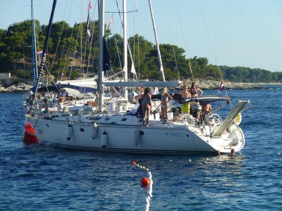 Villa Nora Hvar: One of many Sailing Yachts