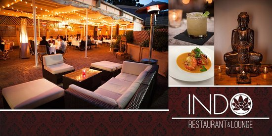 INDO Restaurant & Lounge : Pation seating, cocktails, and Indonesian food here in Palo Alto