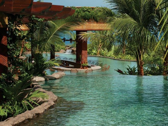 The Springs Resort and Spa: Laguna Bar view from Cascada Grande
