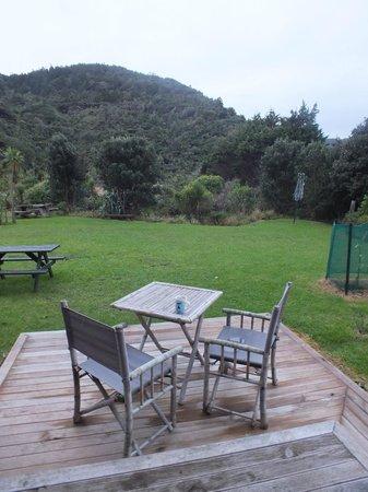 Piha Beachstay Accommodation: Private terrace