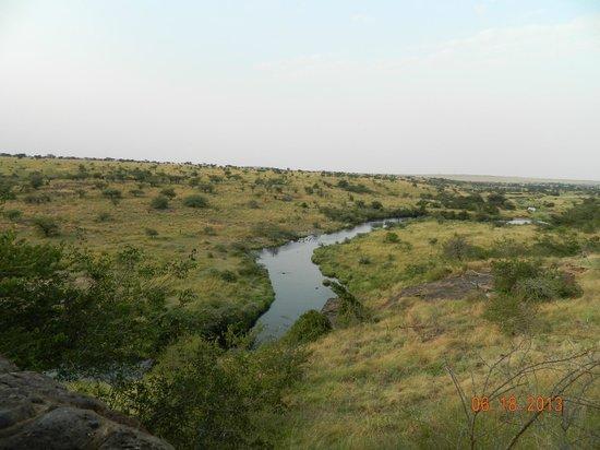 Amani Mara Lodge: Ntiak Ntiak River (Hence the wildlife around)