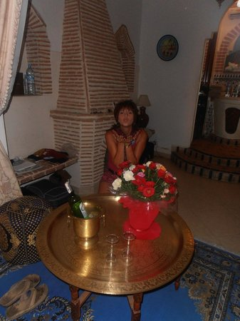 Riad Catalina : The welcome in our room on my birthday