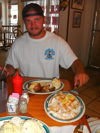 Fish Tales Market & Eatery: The spear fisherman - our first meal of a Keys favorite - hogfish