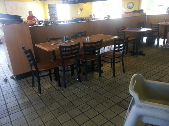 KFC: Every table in the place was dirty