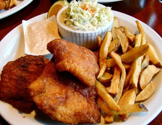 The Fish House: Spicy Cajun Fish and Chips ($9.95)