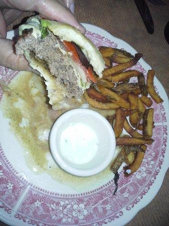 Augusta: lamb burger