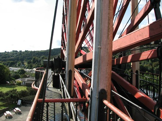 Laxey Wheel: View from the top
