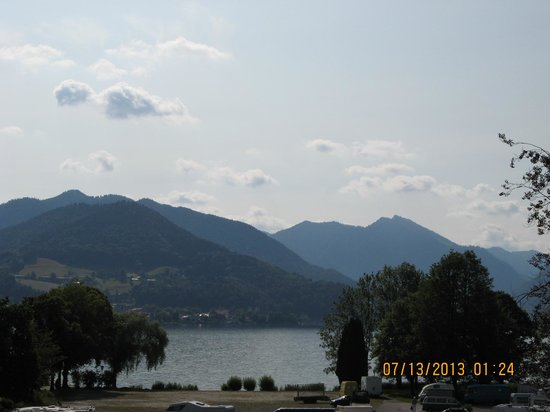 Hotel am Kureck: View of Lake Tegernsee from Our Balcony