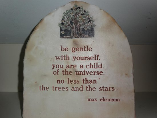 Mulberry Tree Inn: This lovely quote was outside our room :)