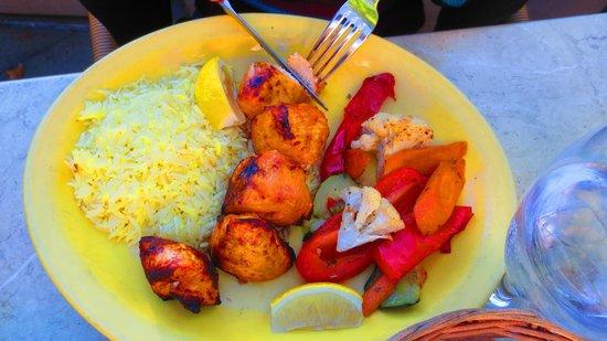 Cafe Baklava: Chicken kebabs