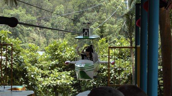Sanxiang Quanlin Tourist Resort: Zip-line ride