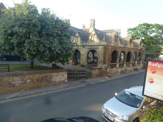 Badgers Hall: View from our room to the old market buildings