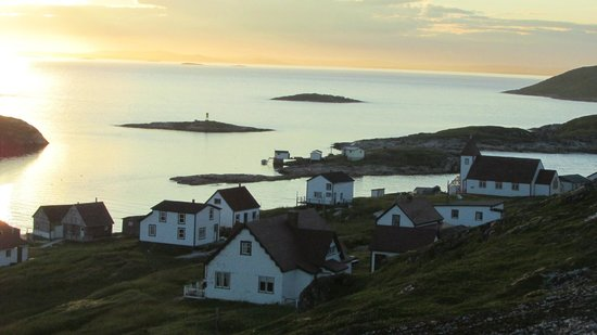 Battle Harbour Heritage Properties: the village at sunset