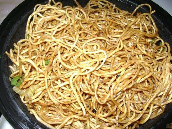 Forbidden City: chemical smelling noodles that tasted like chemicals