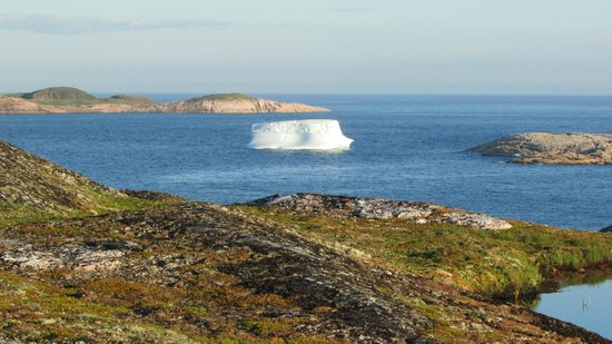 Battle Harbour Heritage Properties: iceberg from the Battle Harbour Inn porch