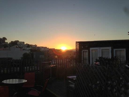 San Remo Hotel: Sunset from the terrace of the penthouse