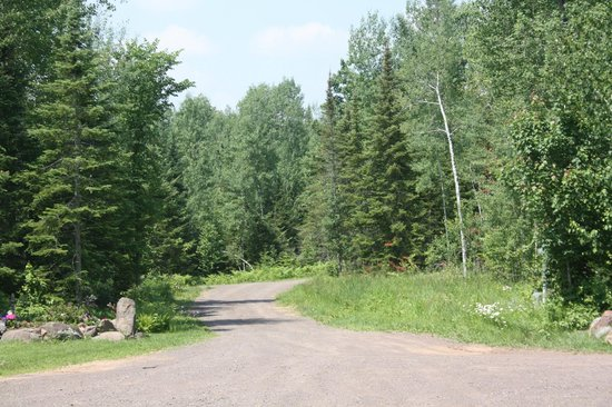 Superior Gateway Lodge: The drive into the B&B