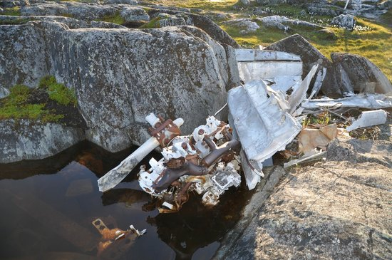 Battle Harbour Heritage Properties: airplane crash site