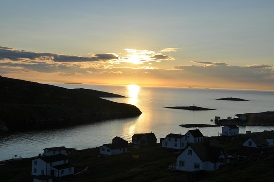 Battle Harbour Heritage Properties: sunset on August 1, 2013