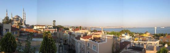 Aren Suites: Terrace view toward east