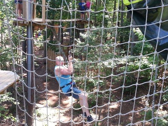 Go Ape Treetop Adventure Course: First Tarzan Swing