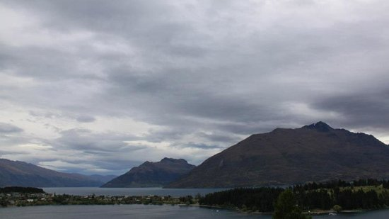 No 70, Studio Accommodation Queenstown: View from our room (slightly overcast)