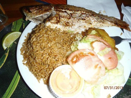 Andros The Fish Fry : Red Snapper Dinner