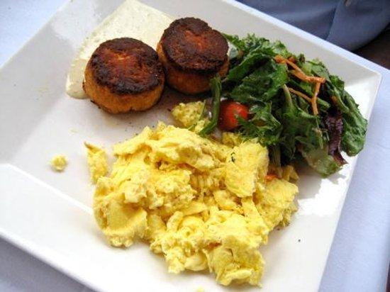 CIRCA at Dupont: Salmon cakes and eggs scrambled