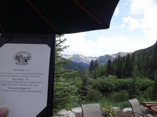 Pine Creek Cookhouse bar menu