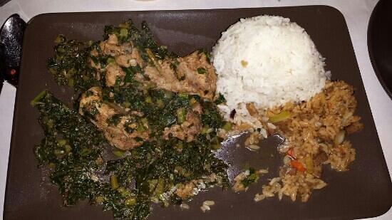 Himalaya Restaurant : Pork ribs with kale