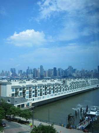 view from our room picture of sheraton lincoln harbor. Black Bedroom Furniture Sets. Home Design Ideas